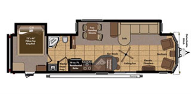 New 2015 Keystone RESIDENCE 405FL Travel Trailer For Sale